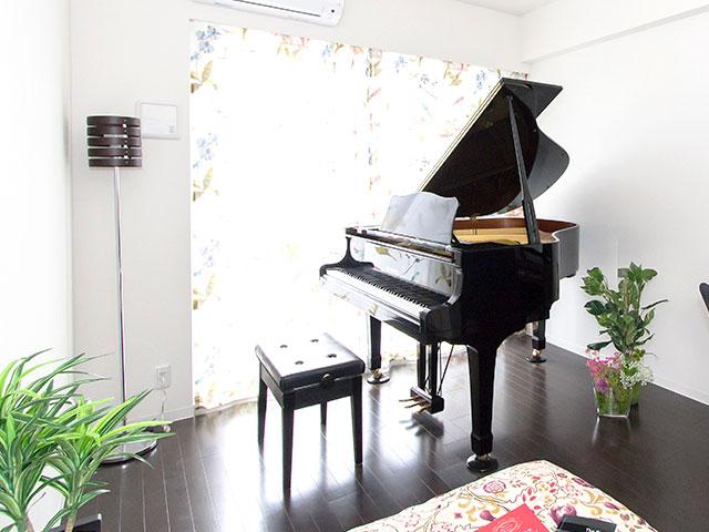 グランドピアノも対応可能な防音・遮音性能。